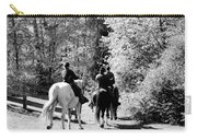Riding Soldiers B And W Carry-all Pouch