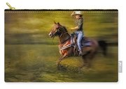 Riding Thru The Meadow Carry-all Pouch by Susan Candelario