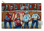 Rink Hockey Montreal Street Scenes Carry-all Pouch by Carole Spandau