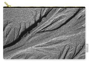Ripples In The Sand Black And White Carry-all Pouch