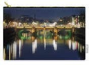 River Liffey At Night, Oconnell Street Carry-all Pouch