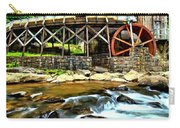 River Rock And A Grist Mill Carry-all Pouch