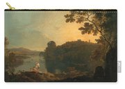 River Scene- Bathers And Cattle Carry-all Pouch