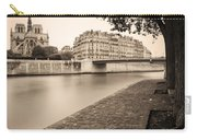 River Seine And Cathedral Notre Dame Carry-all Pouch