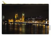 River Thames And Westminster Night View Carry-all Pouch