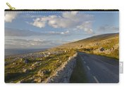 Road Along The Burren Coastline Region Carry-all Pouch