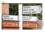 Road Signs Carry-all Pouch