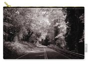 Road Through Autumn - Black And White Carry-all Pouch