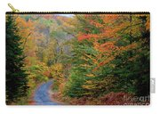 Road Through Autumn Woods Carry-all Pouch by Larry Landolfi and Photo Researchers