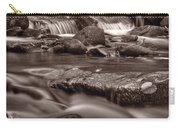 Roaring Fork Great Smokey Mountains Bw Carry-all Pouch by Steve Gadomski