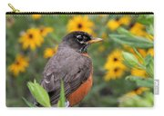 Robin Among Flowers Carry-all Pouch