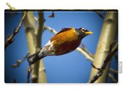 Robin Dives Into A Budding Spring Carry-all Pouch