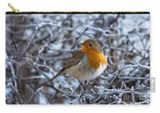 Robin On A Frosty Morning Carry-all Pouch