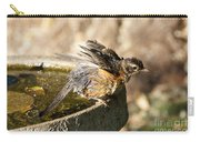 Robin Shaking Water Off Carry-all Pouch