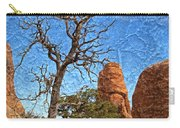 Rock Garden Skeleton Arches National Park Carry-all Pouch