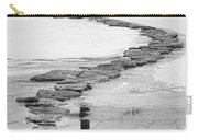 Rock Lake Crossing In Black And White  Carry-all Pouch