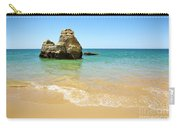 Rock On Beach Carry-all Pouch by Carlos Caetano