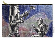 Rocket Man And Robot Carry-all Pouch