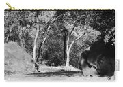 Rocks And Trees In Black And White Carry-all Pouch