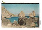 Rocks Of The Sirens Carry-all Pouch by Frederic Leighton