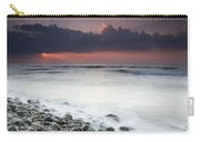 Rocky Beach At Sunrise Hawf Protected Carry-all Pouch by Sebastian Kennerknecht
