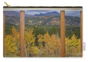 Rocky Mountain Autumn Picture Window Scenic View Carry-all Pouch