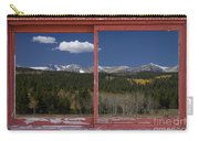 Rocky Mountain Autumn Red Rustic Picture Window Frame Photos Art Carry-all Pouch