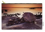 Rocky Shore At Twilight Carry-all Pouch