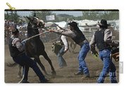 Rodeo Wild Horse Race Carry-all Pouch