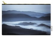 Rolling Hills In The Fog, Rwanda, Africa Carry-all Pouch