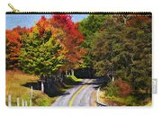Rolling Thru West Virginia Impasto Carry-all Pouch