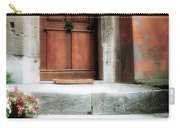 Roman Door And Steps Rome Italy Carry-all Pouch