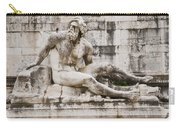 Roman Statue With Pigeon And Wildflowers Carry-all Pouch