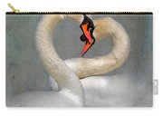 Romantic Image Of Courting Swans Carry-all Pouch