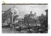 Rome: Ponte Rotto, 1833 Carry-all Pouch by Granger