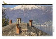 Roof With Chimney And Snow-capped Mountain Carry-all Pouch