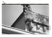 Rooftop Gargoyle Statue Above French Quarter New Orleans Black And White Diffuse Glow Digital Art Carry-all Pouch by Shawn O'Brien