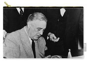 Roosevelt Signing Declaration Of War Carry-all Pouch