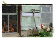 Rooster And Hens Carry-all Pouch