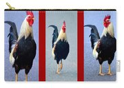 Rooster Triptych Carry-all Pouch