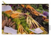 Root Vegetables At The Market Carry-all Pouch by Heather Applegate