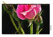 Rose And Buds Carry-all Pouch