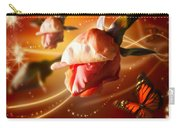 Rose And Butterfly Carry-all Pouch