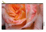 Rose And Raindrops On Black Carry-all Pouch