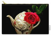 Rose With China Teapot Carry-all Pouch