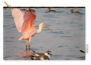 Roseate Spoonbill At The Bay Carry-all Pouch