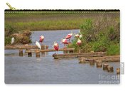 Roseate Spoonbills And Snowy Egrets Carry-all Pouch