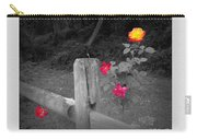 Roses And Fence Carry-all Pouch