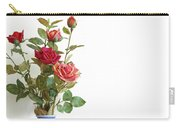 Roses Bouquet Carry-all Pouch by Carlos Caetano