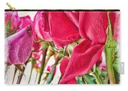 Roses In White Carry-all Pouch